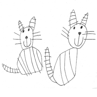 Two Striped Cats